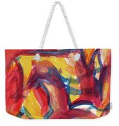 Red Abstract Painting Weekender Tote Bag