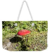 Red And White Potted Toadstool Weekender Tote Bag