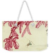 Red Autumnal Leaves Insect Weekender Tote Bag