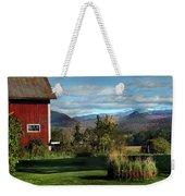 Red Barn In Newbury Vermont Weekender Tote Bag
