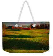 Rolling Hills And Red Barn, Rock Island, Tennessee Weekender Tote Bag