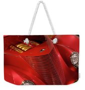 Red Classic Car Details Weekender Tote Bag