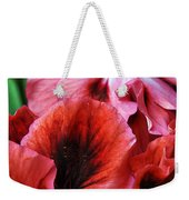 Red Floral Weekender Tote Bag