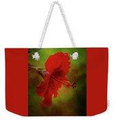 Red Hibiscus Art Weekender Tote Bag