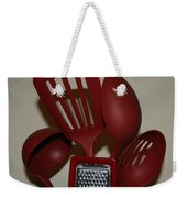 Red Kitchen Utencils Weekender Tote Bag