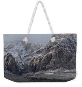 Red Rock Canyon Snow Storm Weekender Tote Bag
