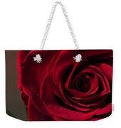 Red Rose Macro 6 Weekender Tote Bag