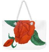 Red Rose, Oil Painting Weekender Tote Bag