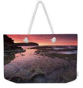 Red Sky At Morning Weekender Tote Bag