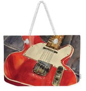 Red Telecaster Weekender Tote Bag