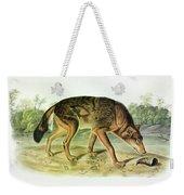 Red Texan Wolf Weekender Tote Bag