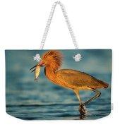 Reddish Egret With Fish Weekender Tote Bag