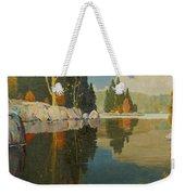 Reflective Lake Weekender Tote Bag