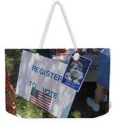 Register To Vote Bobby Kennedy Poster Sylver Short Hand Peart Park Casa Grande Arizona 2004 Weekender Tote Bag
