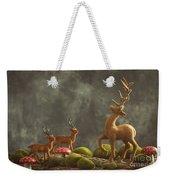 Reindeer Scene Weekender Tote Bag