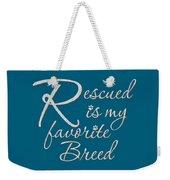 Rescued Weekender Tote Bag