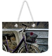 Retro Bike Weekender Tote Bag