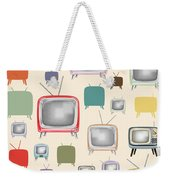 retro TV pattern  Weekender Tote Bag by Setsiri Silapasuwanchai