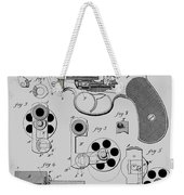Revolving Fire Arm Patent 1881 Weekender Tote Bag