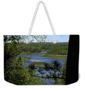 River And Trees Weekender Tote Bag