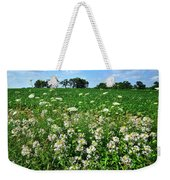 Roadside Wildflowers In Mchenry County Weekender Tote Bag