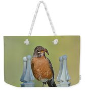 Robin With Worm I Weekender Tote Bag