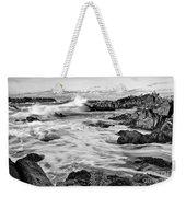 Rocky Asilomar Beach In Monterey Bay At Sunset. Weekender Tote Bag