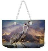 Rocky Mountain Sandhill Cranes Weekender Tote Bag