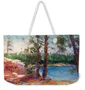 Rocky Point Cove At Bass Lake Weekender Tote Bag