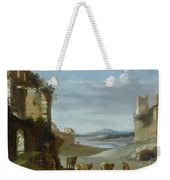Roman Landscape With Ruins Weekender Tote Bag