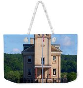 Rondout Lighthouse On The Hudson River New York Weekender Tote Bag