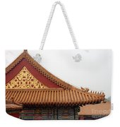 Roof Forbidden City Beijing China Weekender Tote Bag