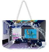 Rooftop Saltwater Fish Tank Art Weekender Tote Bag