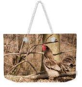 Rooster In The Woods Weekender Tote Bag