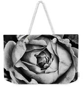 Rose Closeup In Monochrome Weekender Tote Bag