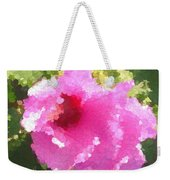Rose Of Sharon In Abstract Weekender Tote Bag