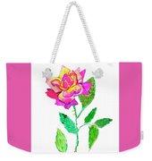 Rose, Watercolor Painting Weekender Tote Bag