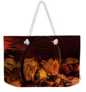 Roses Spilling Out Of Vase Weekender Tote Bag