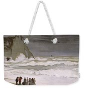 Rough Sea At Etretat Weekender Tote Bag