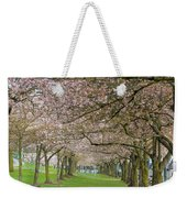 Rows Of Cherry Blossom Trees In Spring Weekender Tote Bag