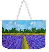 Rows Of Lavender In Provence Weekender Tote Bag
