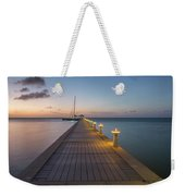 Rum Point Pier At Sunset Weekender Tote Bag