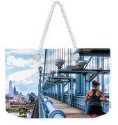 Running The Bridge Weekender Tote Bag