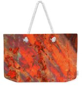 Rust Abstract Weekender Tote Bag
