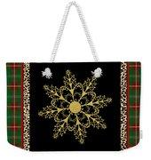 Rustic Snowflake-jp3695 Weekender Tote Bag