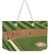 Safeco Field Abstract Patterns With Ground Crew Weekender Tote Bag