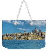 Sail Boat And Cathedral Weekender Tote Bag