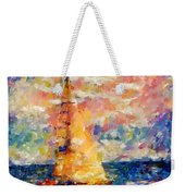 Sailing In The Sea Weekender Tote Bag