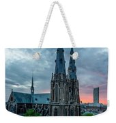 Saint Catherina Church In Eindhoven Weekender Tote Bag by Semmick Photo