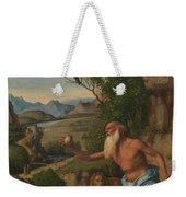 Saint Jerome In A Landscape Weekender Tote Bag